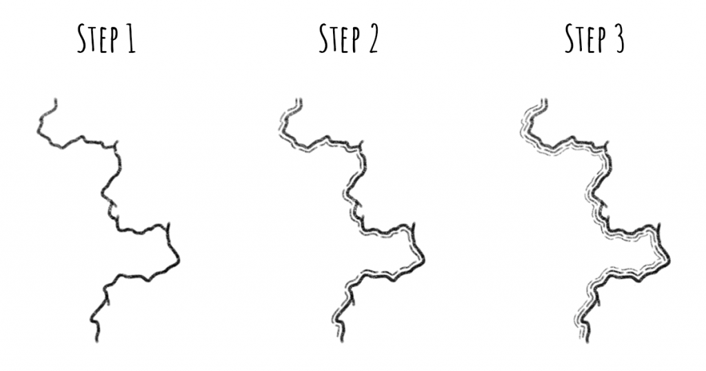 4 Coastline and Water Styles - Style 2 - 3 Steps